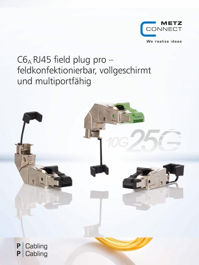 C6A RJ45 field plug pro – feldkonfektionierbar, vollgeschirmt und multiportfähig