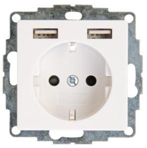 USB 2-fach Steckdose