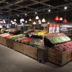 Supermarkt mit 3D-gedruckten Lampen