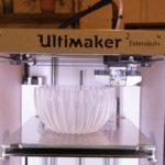 Erstellung eines Lampenschirms im 3D-Drucker.