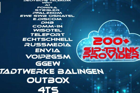 Auflistung Provider; Text auf Hintergrund