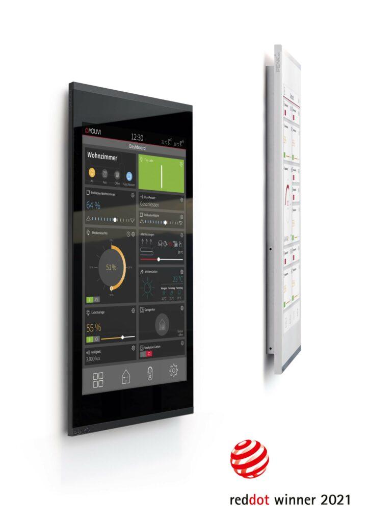 Zwei KNX-Touch-Panel